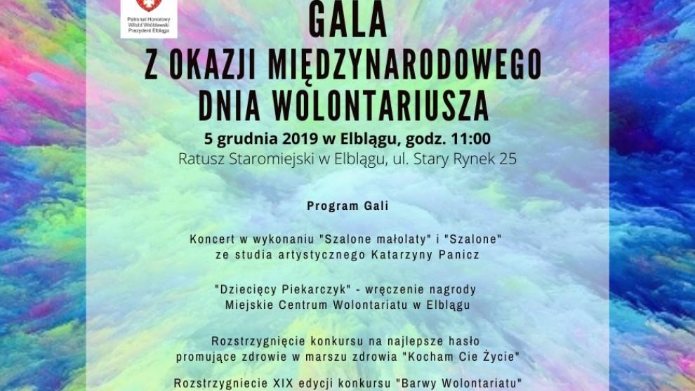 Zaproszamy na Galę z okazji Międzynarodowego Dnia Wolontariusza!