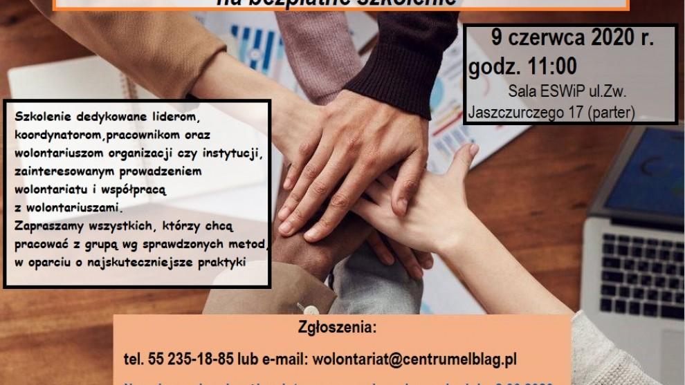 Zapraszamy na szkolenie dla koordynatorów wolontariatu