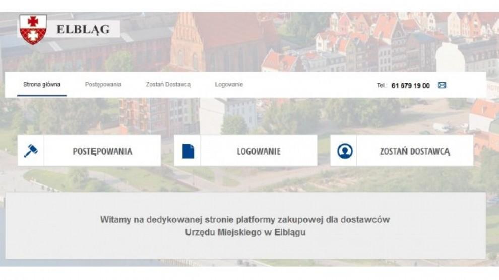 Ruszyła platforma zakupowa Urzędu Miejskiego w Elblągu